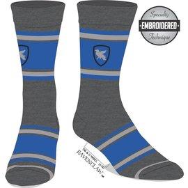 Bioworld Socks - Harry Potter - Ravenclaw: Blue Embroidered Eagle Logo 1 Pair Crew