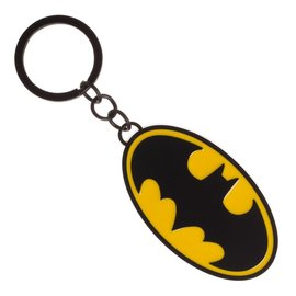Bioworld Keychain - Batman - Classic Batman Yellow Logo Metal