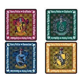 Monogram Sous-Verres - Harry Potter - Logo des Maisons de Poudlard en Liège Ensemble de 4