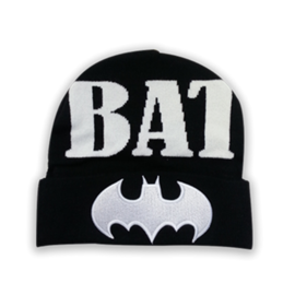 Bioworld Toque - DC Comics - Batman: White Embroidered Logo and Text *Sale*