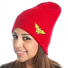 Bioworld Toque - DC Comics - Wonder Woman Red with Embroidered Logo *Sale*