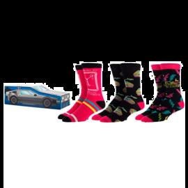 Bioworld Socks - Back To The Future - DeLorean Retro 3 Pairs Crew Pack