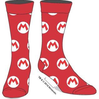 Bioworld Chaussettes - Nintendo Super Mario Bros. - Logo M de Mario 1 Paire Crew