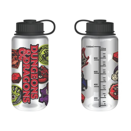 Bioworld Travel Bottle - Dungeons & Dragons - Symbols and D20 30oz