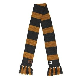 Elope Scarf - Harry Potter - Hufflepuff Heathered Striped with Leather Patch