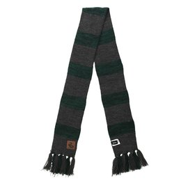 Elope Scarf - Harry Potter - Slytherin Heathered Striped with Leather Patch
