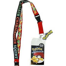 Bioworld Lanyard - Pokémon - Pikachu, Squirtle, Charmander, Bulbasaur