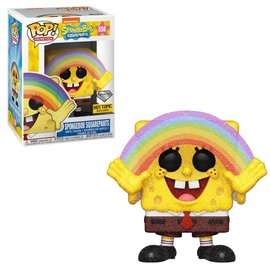 Funko Funko Pop! - The SpongeBob Movie - SpongeBob SquarePants with Rainbow 558 Diamond Collection *Hot Topic Exclusive*