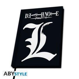 """AbysSTyle Carnet de Notes - Death Note - """"L"""" et Ryuk Noir"""