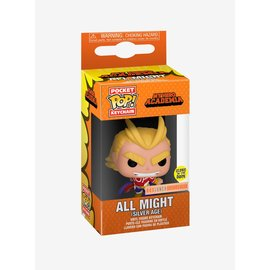 Funko Funko Pocket Pop! Keychain - My Hero Academia - All Might (Silver Age) Glows in the Dark *BoxLunch Exclusive*