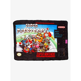 Bioworld Blanket - Nintendo - Super Mario Kart Plush Throw