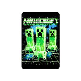 Bioworld Blanket - Minecraft - Creeper Trio Plush Throw