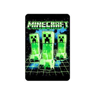 Bioworld Couverture - Minecraft - Trio de Creepers Jeté en Peluche