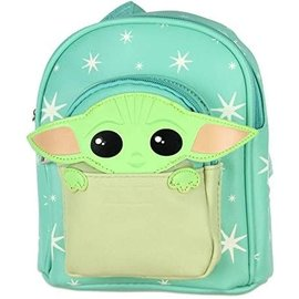 Bioworld Mini sac à dos - Star Wars The Mandalorian - The Child ''Bébé Yoda'' Turquoise