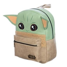 Bioworld Mini Backpack - Star Wars The Mandalorian - The Child ''Baby Yoda'' Faux Leather with Ears