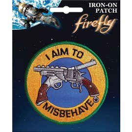 Ata-Boy Patch - Firefly - I Aim To Misbehave