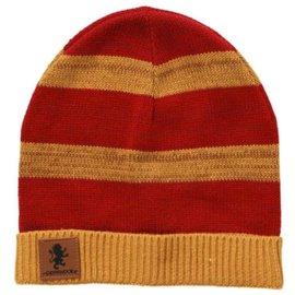 Elope Tuque - Harry Potter - Gryffondor Chinée à Bande avec Patch en Cuir