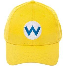 Bioworld Baseball Cap - Nintendo - Super Mario: W Logo Wario Yellow Snapback