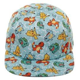 Bioworld Baseball Cap - Pokémon - Pikachu, Charmander, Squirtle and Bulbasaur Snapback