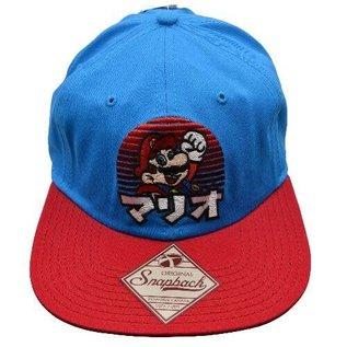 Bioworld Casquette - Nintendo Super Mario Bros. - Nom Japonais Bleue et Rouge Snapback