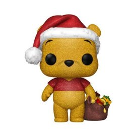 Funko Funko Pop! - Disney Winnie the Pooh - Winnie the Pooh with Santa Hat Holiday 614  *Diamond Collection Hot Topic Exclusive*
