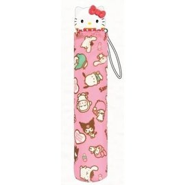 ShoPro Umbrella - Sanrio - Hello Kitty and Friends Pink with 3D Handle