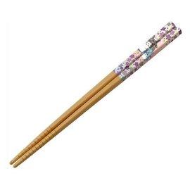 Nibariki Chopsticks - Studio Ghibli - My Neighbor Totoro: Totoro Silver and Flowers 1 Pair 21cm