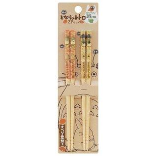 Nibariki Baguettes - Studio Ghibli Mon Voisin Totoro - Ensemble de 2 Paires 18cm