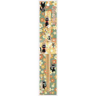 Nibariki Baguettes - Studio Ghibli Kiki La Petite Sorcière - Jiji avec Fleurs 1 Paire 21cm
