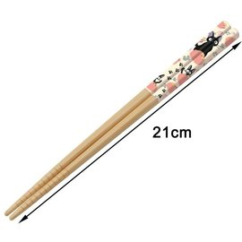 Warner Bros. Chopsticks - Studio Ghibli - Kiki's Delivery Service: Jiji with Pawprints 1 Pair 21cm