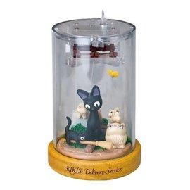 Sekiguchi Music Box - Studio Ghibli Kiki's Delivery Service - Jiji, Lili and Kids Moving Marionnette Theatre Mechanical Wind-Up