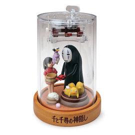 Sekiguchi Music Box - Studio Ghibli Spirited Away - Chihiro and No Face Moving Marionnette Theatre Mechanical Wind-Up