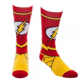 Bioworld Socks - DC Comics - The Flash: Logo and Uniform Yellow and Red 1 Pair Crew
