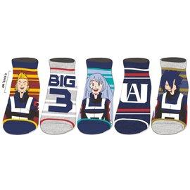Bioworld Socks - My Hero Academia - UA Class Characters Pack of 5 Pairs Ankle