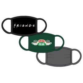 Bioworld Face Mask - Friends - Central Perk Face Cover Pack of 3 Youth Sized