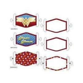 Bioworld Face Mask - DC Comics - Wonder Woman Face Cover Pack of 3 Youth