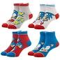 Bioworld Chaussettes - Sonic the Hedgehog - Bleues et Rouges Paquet de 4 Paire Chevilles pour Enfant