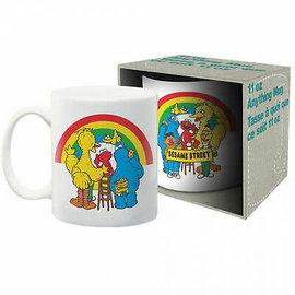 NMR Tasse - Sesame Street - Big Bird, Elmo et Cookie Monster avec Arc en Ciel 11 oz