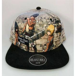 Bioworld Casquette - Attack On Titan - Eren, Mikasa et Armin avec Logo
