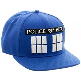 Bioworld Casquette - Doctor Who - Police Box Bleu Snapback