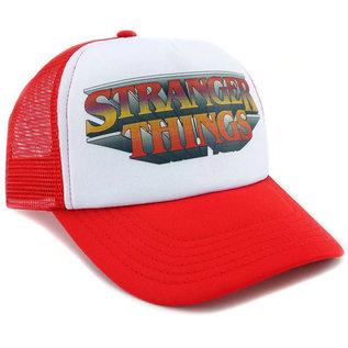 Loungefly Casquette - Stranger Things - Logo Stylisé Blanc et Rouge Trucker Hat