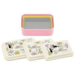 Skater Boîte Bento - Studio Ghibli Kiki la Petite Sorcière - Jiji avec Fleurs Ensemble de 3 Boîtes à Collation