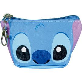 Disney Entreprise Portefeuille - Disney Lilo & Stitch - Visage de Stitch Petit Porte-Monnaie Triangulaire