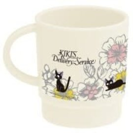 Kater Tasse - Studio Ghibli - Kiki la Petite Sorcière: Jiji avec Fleurs  en Acrylique 11oz