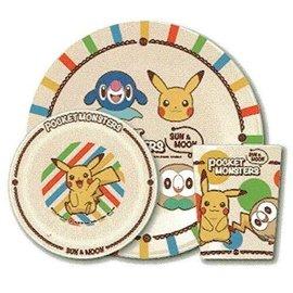 ShoPro Assiette - Pokémon - Starters Sun & Moon Ensemble avec Bol et Verre en Acrylique ''Pocket Monsters''