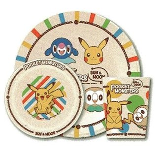 ShoPro Assiette - Pokémon Pocket Monsters - Starters Sun & Moon Ensemble avec Bol et Verre en Acrylique