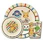"""ShoPro Assiette - Pokémon - Starters Sun & Moon Ensemble avec Bol et Verre en Acrylique """"Pocket Monsters"""""""