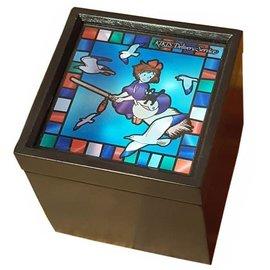 Sekiguchi Boîte à musique - Studio Ghibli - Kiki la Petite Sorcière: Kiki et Jiji en Vol en Vitrail pour Bijoux Méchanique