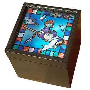 Sekiguchi Boîte à musique - Studio Ghibli Kiki la Petite Sorcière - Kiki et Jiji en Vol en Vitrail pour Bijoux Méchanique
