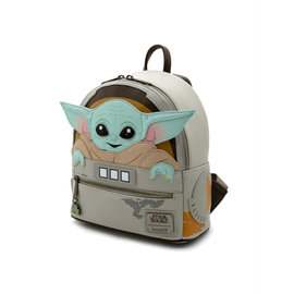 """Loungefly Mini Backpack - Star Wars The Mandalorian - The Child """"Baby Yoda"""" in Cradle"""
